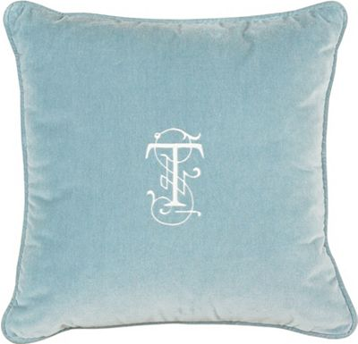 Accessories - Jackson Ocean with Monogram Throw Pillow
