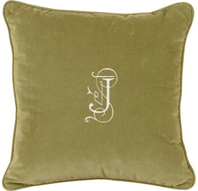 Accessories - Jackson Sage with Monogram Throw Pillow