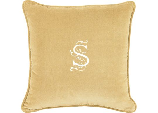 Accessories - Jackson Gold with Monogram Throw Pillow
