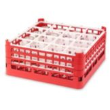 Vollrath® 5271933 Red Full Size Tall 16-Compartment Glass Rack