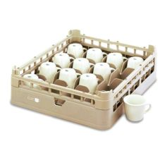 Full Size Short 16-Cup Rack, Cocoa, 19-3/4x19-3/4x4-1/8