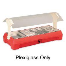 "Vollrath® 21680 Plexiglass For 3-Pan 46"" Tabletop Food Bar"