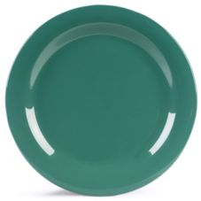 "Carlisle® Durus® 10-1/2"" Meadow Green Narrow Rim Plate"
