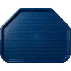 Carlisle® CT1713TR14 Blue Cafe Trapezoid Tray - Dozen