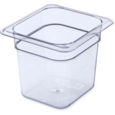 Carlisle® 3068507 StorPlus™ 2.5 Qt. Clear 1/6-Size Food Pan