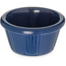 Carlisle S27960 2 Oz. Cobalt Blue Fluted Melamine Ramekin - 48 / CS