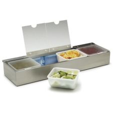 Carlisle® 38704CSIB 4 Qt. Stainless Steel Condiment Caddy