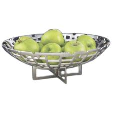 DW Haber & Sons Nickel Plated Cubic Bowl