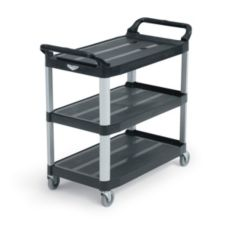 "Vollrath® 97007 Black 40"" Multi-Purpose Plastic Cart"