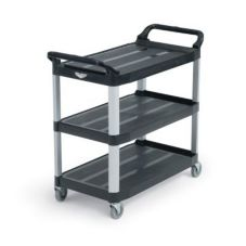 "Vollrath Black Plastic 33"" Multi-Purpose Cart"