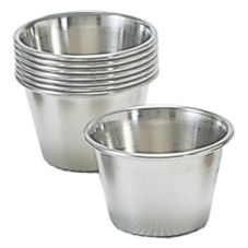 Adcraft® OYC-2/PKG 2-1/2 Oz. Stainless Steel Sauce Cup