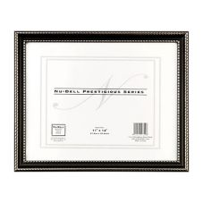 Staples® Advantage 881250 Black Document  Frame w/ Plexiglas Face