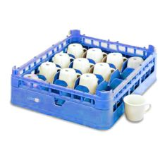 Vollrath 5267677 Royal Blue Full Size Medium 16-Compartment Cup Rack