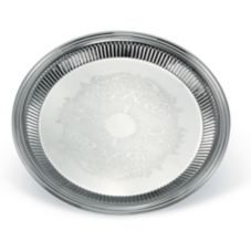 "Vollrath® 82168 Esquire™ S/S Round 12"" Fluted Tray"