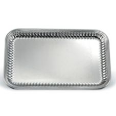 "Vollrath 82166 Esquire S/S Rectangular 18.25 x 12.5"" Fluted Tray"