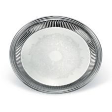 "Vollrath® 82170 Esquire™ S/S 16"" Round Fluted Tray"