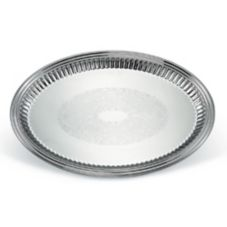 """Vollrath® 82172 Esquire S/S Oval 17-5/8 x 13"""" Fluted Tray"""