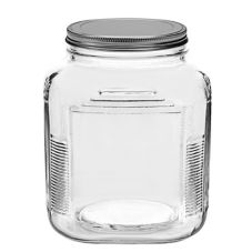 Anchor Hocking 85787R 2 qt Brushed Aluminum Lid Cracker Jar - 4 / CS