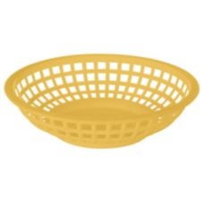 "G.E.T.® RB-820-Y-ROB Yellow Plastic 8"" Round Basket - Dozen"