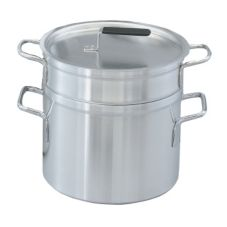 Vollrath 67717 Aluminum Double Boiler With 17.5 Qt Inset And 20 Qt Pot