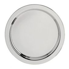 "Oneida® K0015262A Noblesse Silverplate 14"" Round Tray"