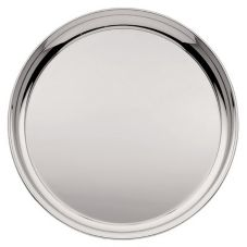 "Oneida® K0015272A Noblesse Round Silverplate 16"" Tray"