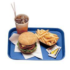 "Cambro 1014FF186 Navy Blue 10"" x 14"" Fast Food Tray - Dozen"