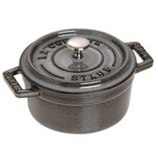 Staub USA 1101018 Graphite Gray Cast Iron 0.25 Qt. Mini Round Cocotte