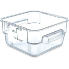 Carlisle Storplus™ Clear 2 Qt Square Food Storage Container