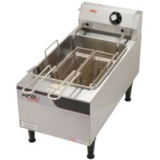 APW Wyott EF-15IN S/S Electric Countertop Fryer w/ 2 Half Size Baskets