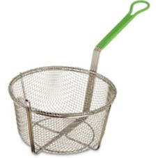 "Carlisle® 601029 9-3/4"" Stainless Steel Round Fryer Basket"