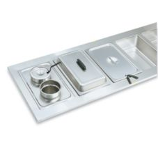 """Vollrath® 19190 Two Opening 6-3/8"""" S/S Adaptor Plate"""