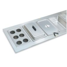Vollrath® 19195 Six Opening Stainless Steel Adaptor Plate