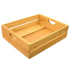 "Crate Farm PRF-NA Natural  18"" x 14"" x 5"" Produce Flat Crate"