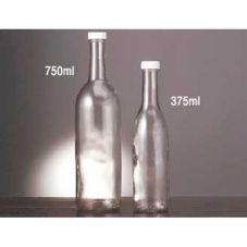 eBottle 750 ml Glass Bottle w/ Fine Ribbed Cap