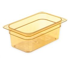 Carlisle® 1048113 TopNotch® 2.8 Qt. Amber 1/4-Size Food Pan