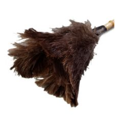 "Carlisle® 4574400 21"" Feather Duster with Wooden Handle"