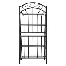 Boraam 12500 Velencia Black 4-Shelf Bakers Rack