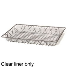 "Willow Specialties L601 17"" x 11"" Clear Tray Liner"