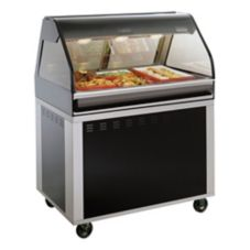 Alto-Shaam® EU2SYS-48/P-BLK Hot Deli Self Service Display Case