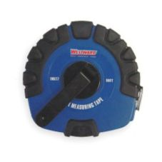 Westward 50 ft Measuring Tape, Closed Case, Manual Rewind