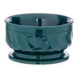 Dinex® Turnbury® Hunter Green Pedestal 9 oz Insulated Bowl