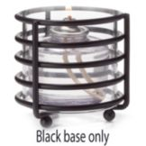 "Hollowick® DRB31 3-3/8"" x 3-1/2"" Satin Black Deco-Ring Base"