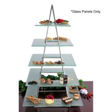 Isinglass DP016-GLASS-SET-1 Set Of 5 Glass Platters For Apex Stand