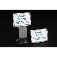 "FFR 2167302201 Clear 7 x 2-1/2"" Easel Tag Holder"