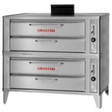 "Blodgett Stainless Steel Deck Type 33"" Gas Double Pizza Oven"