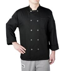 Chefwear® 4410-30-S Small Black Three-Star Chef Jacket
