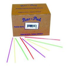 "Cell-O-Core BS516L 6 Black 5.75"" Unwrapped Straws - 1500 / CS"