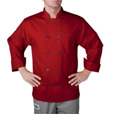 Chefwear® 4410-78-S Small Red Three-Star Chef Jacket