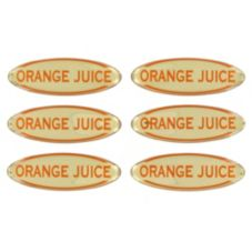 Myco Tableware Adhesive Orange Juice Label
